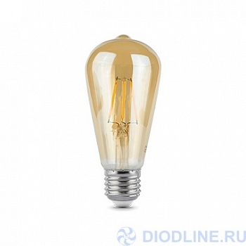 Лампа LED Filament ST64 E27 6W Golden 2400К